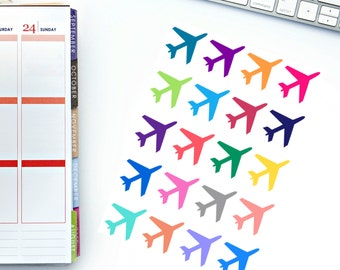 Large Airplane Planner Stickers! Perfect for your Erin Condren Life Planner, calendar, Paper Plum, Filofax!