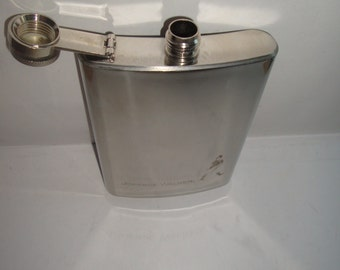 Collectible Johnnie Walker Stainless Steel Flask 8 oz