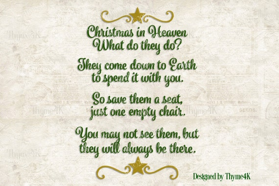 Christmas In Heaven Svg.Christmas At Dads In Heaven Svg Billy Knight