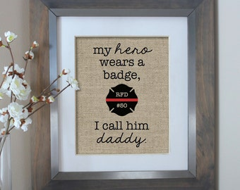 Firefighter Dad, Fireman Gift from Children, Fathers Day Gift, Firefighter Gift from Son, Firefighter Gift for Dad, Gift for Firefighter Dad