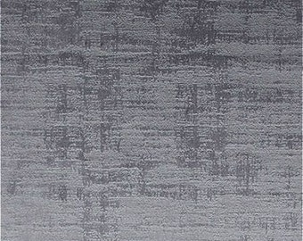 Clarke & Clarke Alessia - Embossed Velvet - Curtain Fabric - Smoke