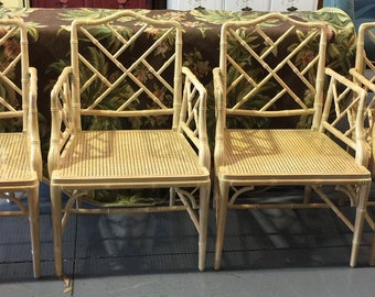 SOLD 4 Fretwork Chippendale Arm Chairs