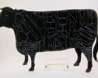 Vintage Cow Butcher Sign
