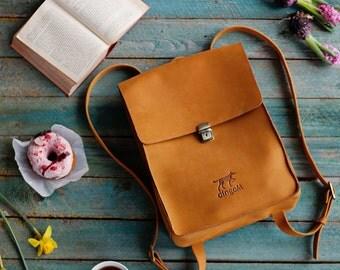 Leather backpack, Leather rucksack, Backpack women, Rucksack women, Handmade backpack