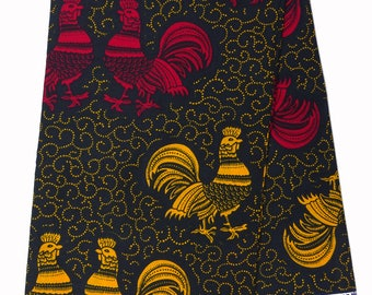 ruster African print Fabric/ African fabric by the yard/ Wax print fabric/ African fabric/ Ankara fabric/ ethnic fabric/ cotton/ birds print
