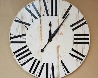 "42in ""oversized Classic"" farmhouse wall clock - Oversized wall clock - large clock - big clock - farmhouse decor -"