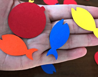 Fishing Confetti - gone fishing - the big one - party supplies