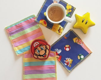Cotton Super Mario themed coasters