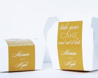 Cake Favor Box, Take Out Box, To Go Box, Favor Label, Cake Box, Favor Box, Doughnut Box, Cookie Box, Candy Box, Dessert Box, Monica Kyle