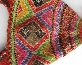 Peruvian Wool Chullo made in Cusco, Peru 1970's