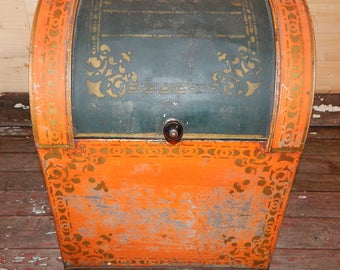 Antique Old Country Store Counter Bin
