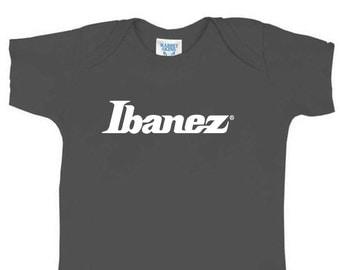 IBANEZ Baby Onesy Bodysuit 6 Colors Guitar Rock n Roll Heavy Metal Full Shirt Swaddler Amp Bass Strat Tele