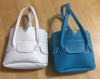 Faux leather handbag for 18 inch dolls pleather doll purse