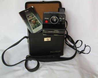 Instant Polaroid land camera in original case. Decorative item, not tested! vintage camera - vintage decor - vintage polaroid - retro camera