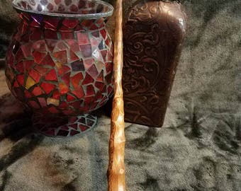 Streaked, wood wand, wands, mystical, one of a kind, hand made, wiccan, wizard, witch, fairy, cosplay