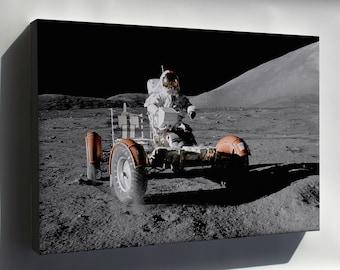 Canvas 24x36; Apollo 17 Lunar Rover