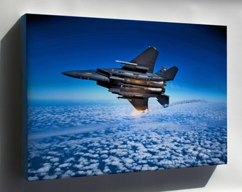 Canvas 24x36; 335Th Fighter Squadron F 15E Eagle