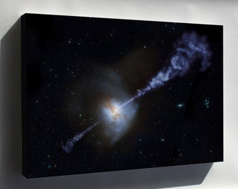 Canvas 24x36; Active Black Hole Squashes Star Formation