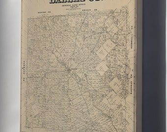 Canvas 24x36; Map Of Dallas Co., Texas 1931