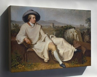 Canvas 16x24; Goethe In The Roman Campagna By Tischbein 1787