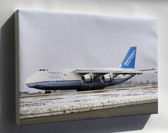 Canvas 16x24; Antonov An-124 Taxis In At Spangdahlem Air Base