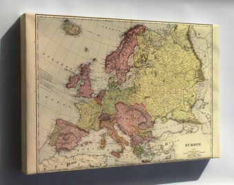 Canvas 16x24; Map Of Europe 1898