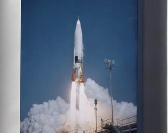 Canvas 16x24; Atlas Missile Launch