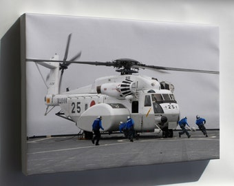 Canvas 16x24; Mh-53E Mh-53 Sea Dragon Helicopter H-53