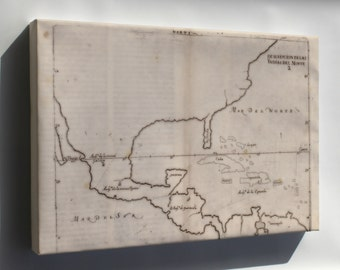 Canvas 16x24; Map Of North America 1601 In Spanish