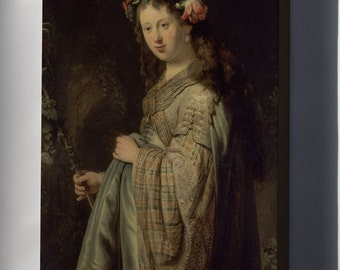 Canvas 16x24; Flora By Rembrandt