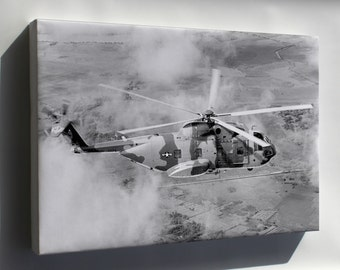 Canvas 16x24; Ch-3C Jolly Green Giant Helicopter Over Vietnam