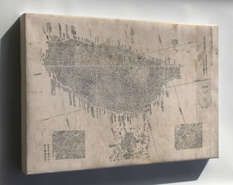 Canvas 16x24; Map Of Taiwan 1878