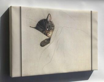 Canvas 16x24; Chessie The Railroad Kitten By Guido Gruenewald C1933