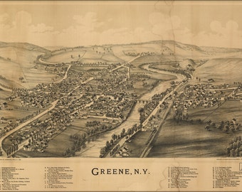 16x24 Poster; Map Of Greene, New York 1890