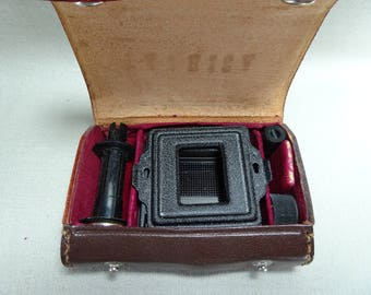 Yashica 635 TLR Camera Accessories Kit in Leather Case Six Piece Set
