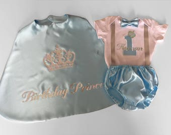 1st Birthday Smash Cake Outfit For Boys, Blue 1st Birthday Outfit, Blue Cake Smash Outfit, Blue First Birthday Outfit, Light Blue Silver
