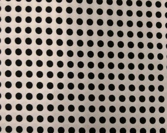 Sunny Delight fabric. White black dots polka dot quilters cotton quilting Blank Textiles