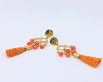 Tassel Chandelier Earrings, Handmade Jewelry by Detail London.
