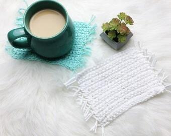 Chug Rug // Crochet Mug Rug Coaster