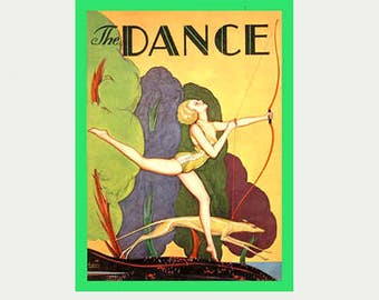Dance Decal - Art Nouveau Decal - Art Deco Decal - Archery Decal - Vintage Style Huntress Decal - Goddess Decal - Feminist Car Decal - S352