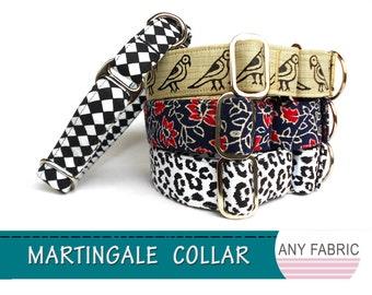 Any fabric Buckle Martingale collar/ Greyhound Whippet adjustable dog collar/strong nylon/polypropylene webbing cotton collar