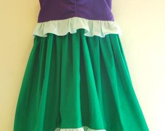 Ariel Inspired Mermaid Dress - Girls Dress, Toddler Dress - Birthday Dress - Party Dress