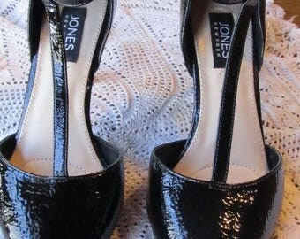 New Jones T-Strap Patent Leather Shoes