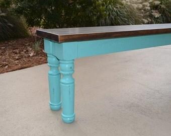 Charming Farm Table bench