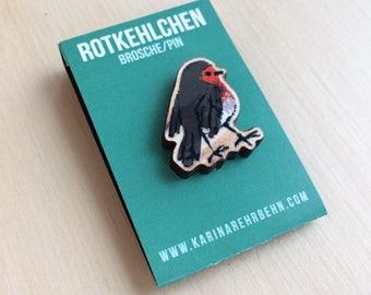 Robin brooch / pin #3