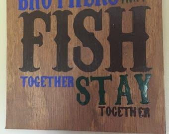 Fishing Nursery Decor, Fishing Brothers, Fishing Wall Sign, Boy Nursery Sign, Fishing Room Decor, Boy Wall Sign, Brother Wall Sign