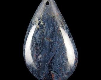 Natural Petersite freeform shape pendant. 45x26x6 mm