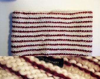 Snood bi - colored wool