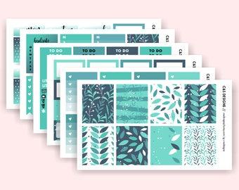 Leaves Full Kit | ECLP Vertical Planner | Planner Stickers, Planner Sticker Kit, Spring, Floral, Leafy Kit