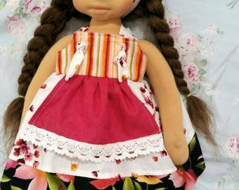"Doll Dress for 18"" Waldorf or American Girl Dolls"